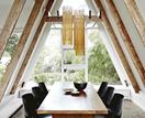 A heritage A-frame house in Melbourne's modern renovation