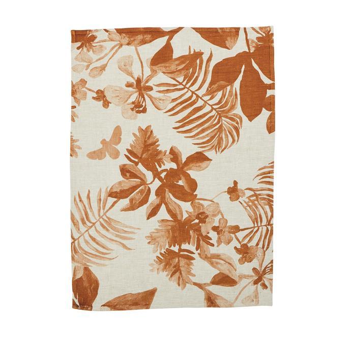 """Palms Seagrass tea towel, $39, [Bonnie and Neil](https://bonnieandneil.com.au/collections/tea-towels/products/palms-seagrass-tea-towel target=""""_blank"""")"""