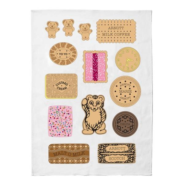 "Make Me Iconic 'Iconic Bickies' tea towel, $34.99, [Hard To Find](https://www.hardtofind.com.au/148711_iconic-bickies-tea-towel|target=""_blank"")"