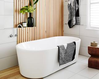 White and warm bathroom renovation