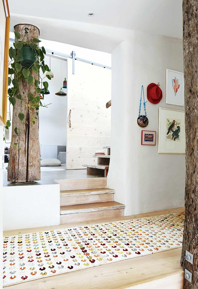 """Nestled within a generous allotment of typically Australian bushland, the home's natural yet whimsical elements were the standout features that grabbed the couple's attention.<br><br>**Barn door** [Barn doors](https://www.homestolove.com.au/barn-door-17386