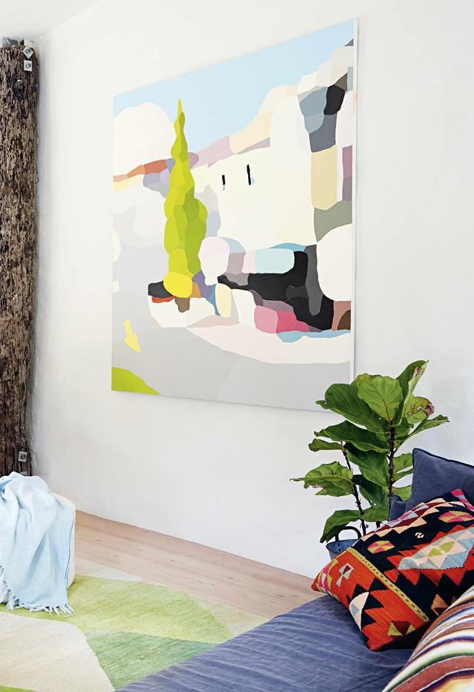 """That aside, the actual renovation itself was reasonably straightforward. """"The floorplan was good but we had strong ideas on how we wanted to stamp the home as our own,"""" Arabella says. The first task the couple tackled was to [paint out the ochre coloured walls to a fresh white](https://www.homestolove.com.au/paint-home-steps-14760
