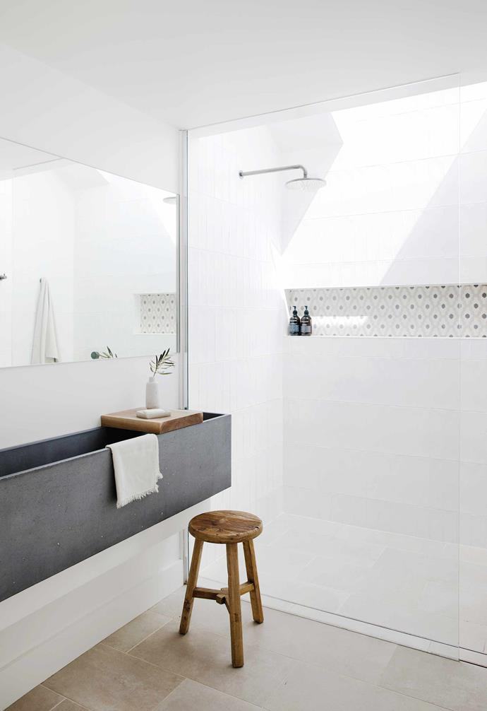 """**Perfectly in sink** Cement your style with a [bespoke feature piece](https://www.homestolove.com.au/concrete-design-ideas-20850