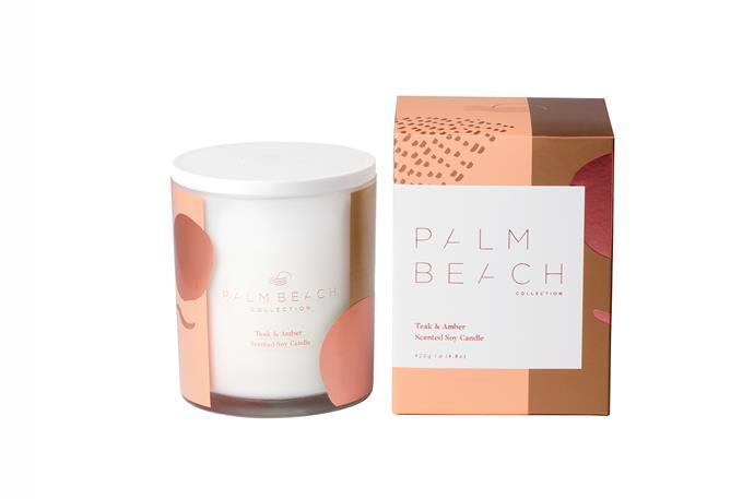 "Teak & Amber candle, $42.95, [Palm Beach Collection](https://palmbeachcollection.com.au/product/teak-amber-limited-edition-standard-candle/?adTribesID=7685332b1afc2b8d7c3f2c403d660c9e%7Cadtribes%7C14649&utm_source=Google%20Shopping&utm_campaign=google%20product%20feed%20test&utm_medium=cpc&utm_term=14649&gclid=Cj0KCQiA4sjyBRC5ARIsAEHsELHatN7RnssQ_7qcCsIQt8e_aDmFOew9iVPIRO_14HdzfQg8zigvCwoaAhlyEALw_wcB|target=""_blank"")"
