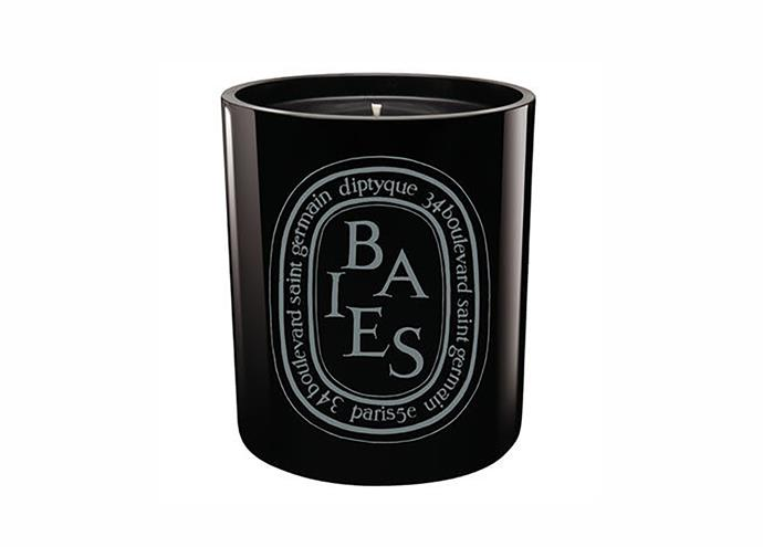 "Dyptique 'Baies Noire' candle, $119, [Mecca](https://www.mecca.com.au/diptyque/?gclid=Cj0KCQiA4sjyBRC5ARIsAEHsELGDyF-A2WjJZPqctG3TpDgXlWil47Nc3rhacoKLpOMOYKT3XJLyqE8aAjeVEALw_wcB#sz=36&start=0|target=""_blank"")"