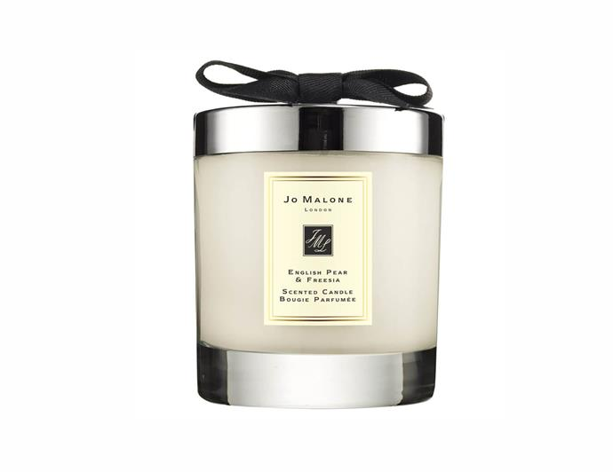 "Jo Malone English pear & freesia home candle, $92, [Mecca](https://www.mecca.com.au/jo-malone-london/english-pear-freesia-home-candle/I-035305.html|target=""_blank"")"