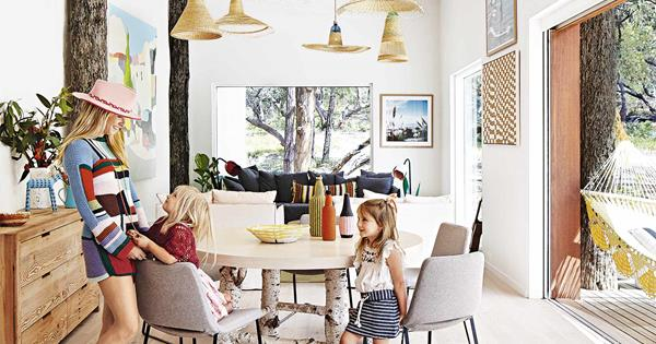 A colourful rammed-earth home on the Victorian coast