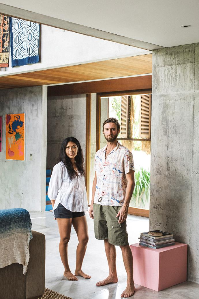 Daniel Mitchell, creative director of Potato Head Group in Bali lives here with his wife Hilda, their two boys, aged 6 and 5, plus dogs Pancho and Georgie.