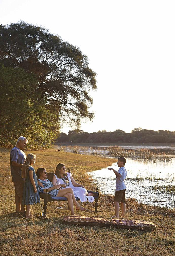 "**Exterior** With her partner Albert, his two children and her friend, textile designer Taryn Lamberti of [Bead Studio](https://beadstudio.co.za/|target=""_blank""