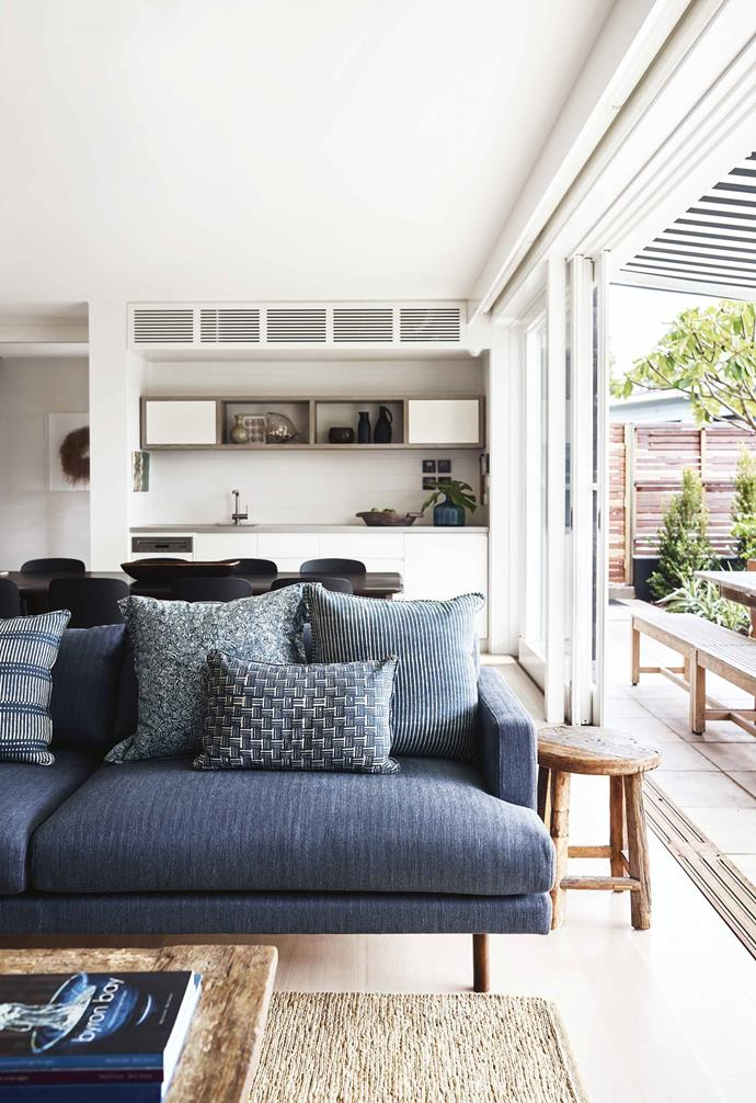 """There are lots of places to plonk and lie down here,"" says Lucy. ""[Plenty of holiday houses don't have that](https://www.homestolove.com.au/holiday-rental-decorating-and-styling-tips-6459
