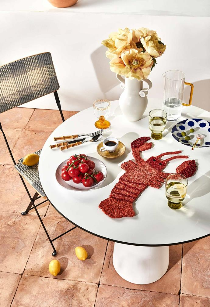 Start with a minimalist table and layer an eclectic mix of joyful pieces to create a perfect moment.