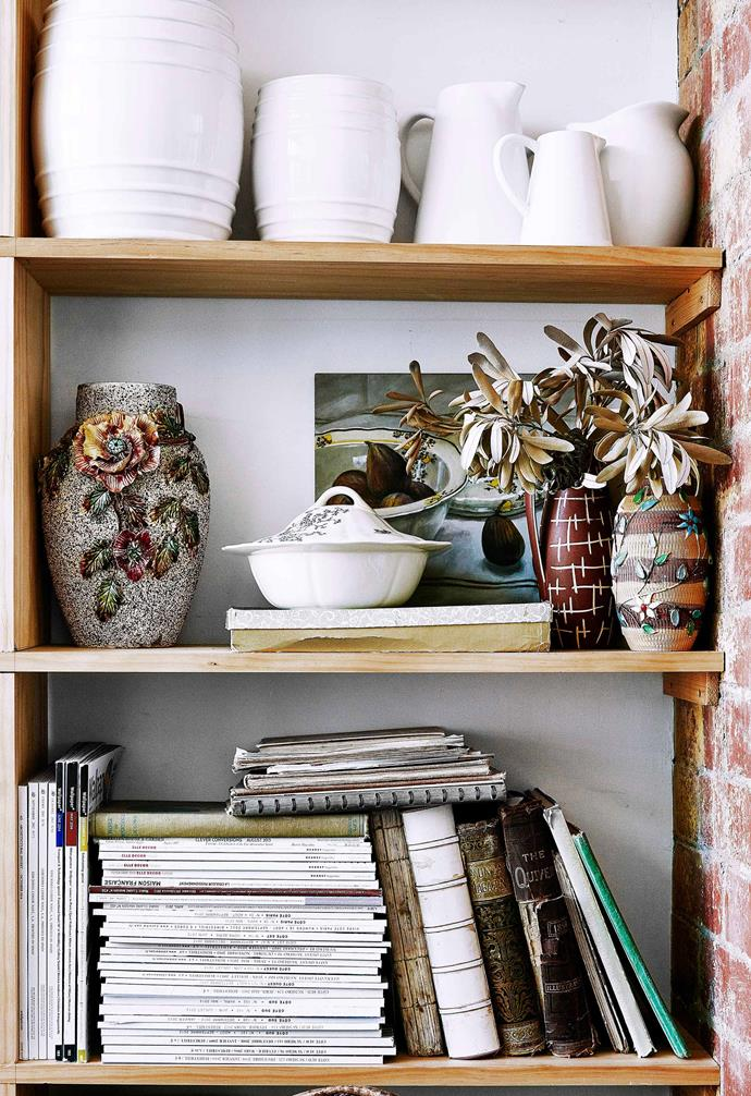 Deborah Bibby extols the concept of living with things you love and taking your time finding them. Fashion store owner Lynn Clay did this with a curated collection of vases in her Melbourne home.
