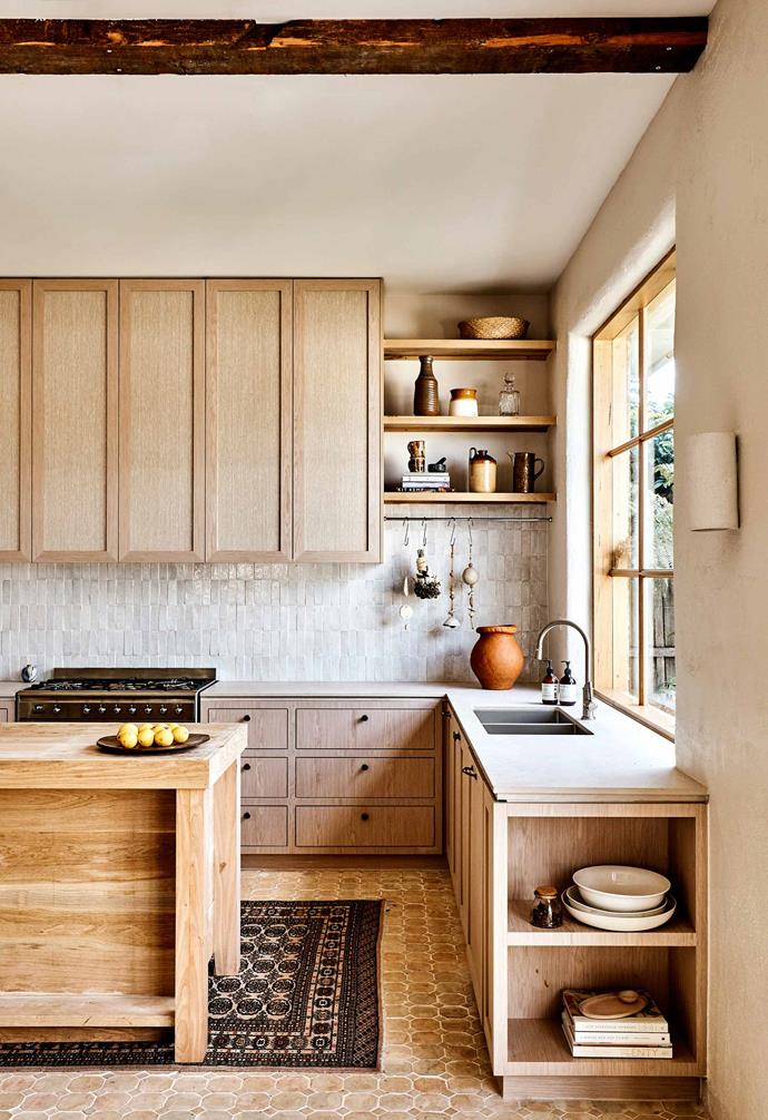 "Interior architect Georgia Ezra designed this kitchen and the tiles featured in it. Her work was voted [Best Kitchen of the Year for 2019 by Australian House & Garden magazine](https://www.homestolove.com.au/house-and-garden-top-50-rooms-winners-2019-20771|target=""_blank"")."