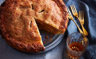 Apple and blackcurrant pie