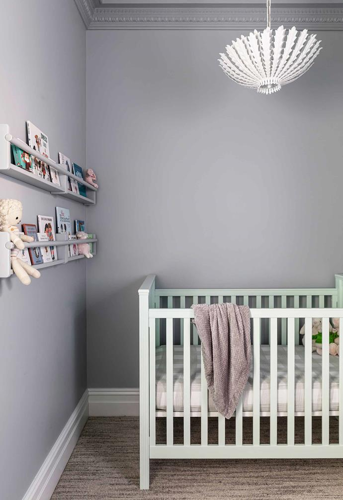 "**Nursery** Baby Delilah's room was kitted out for her arrival. The cot is from [Pottery Barn](https://www.potterybarn.com.au/|target=""_blank""