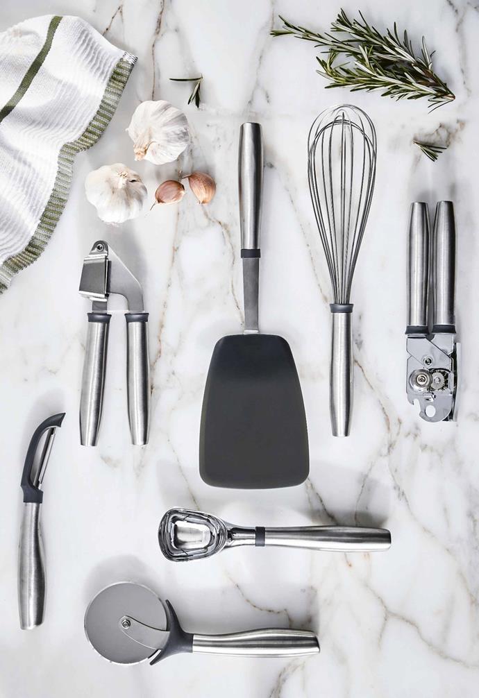 "**Kitchen** Peeler, Pizza Cutter, Ice Cream Scoop, Can Opener, Whisk, Garlic Crusher or Turner kitchen gadgets, $4.49, [Aldi Australia](https://www.aldi.com.au/en/special-buys/ target=""_blank"" rel=""nofollow"")."