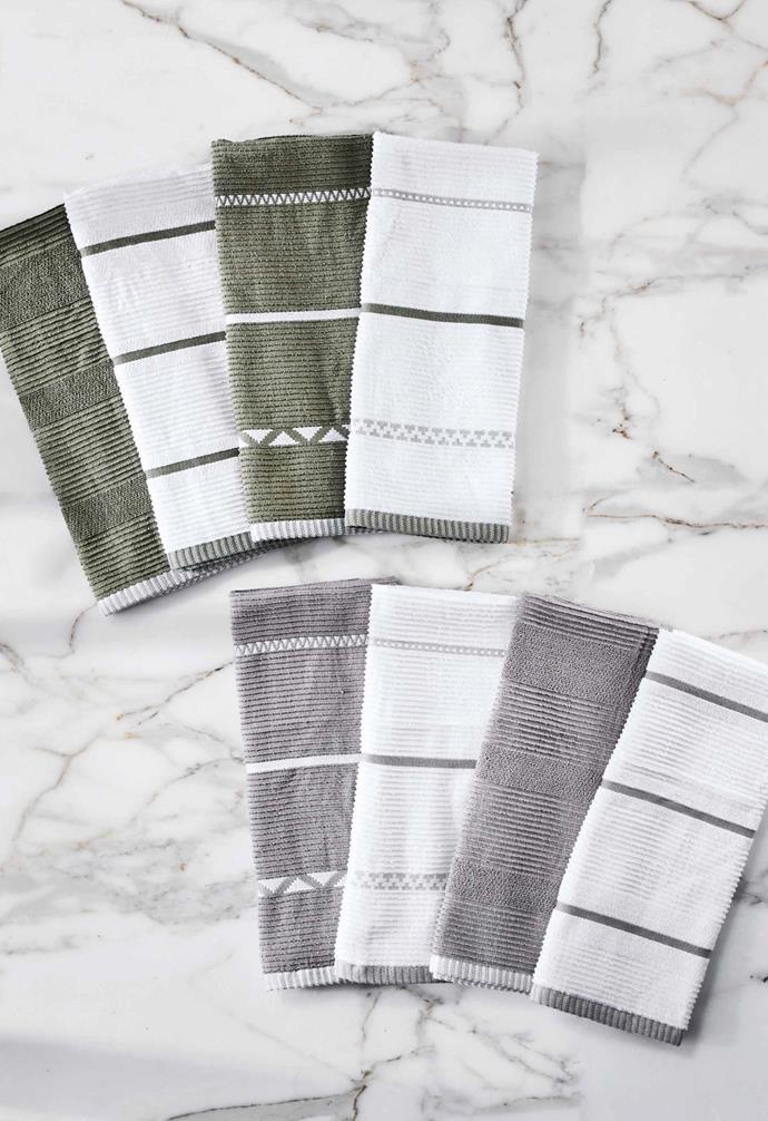 "**Kitchen** Kitchen hand towel 4-pack, $9.99, [Aldi Australia](https://www.aldi.com.au/en/special-buys/ target=""_blank"" rel=""nofollow"")."