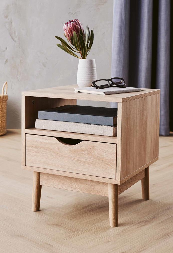 "**Bedroom** Bedside table in natural or white, $39.99, [Aldi Australia](https://www.aldi.com.au/en/special-buys/ target=""_blank"" rel=""nofollow"")."