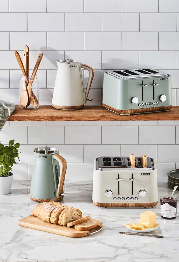 "**Kitchen** Kettle 1.7L, $49.99 and 4-slice toaster, $59.99, [Aldi Australia](https://www.aldi.com.au/en/special-buys/ target=""_blank"" rel=""nofollow"")."