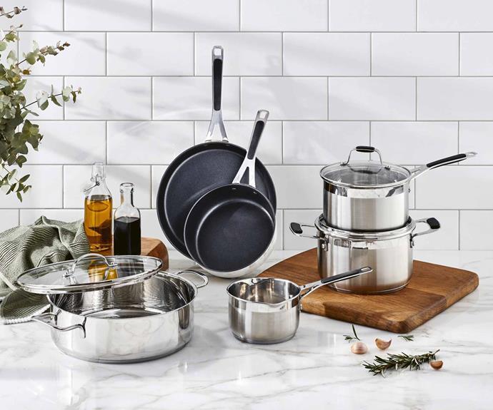 "**Kitchen** Stainless steel cookware sets, $29.99, [Aldi Australia](https://www.aldi.com.au/en/special-buys/ target=""_blank"" rel=""nofollow"")."