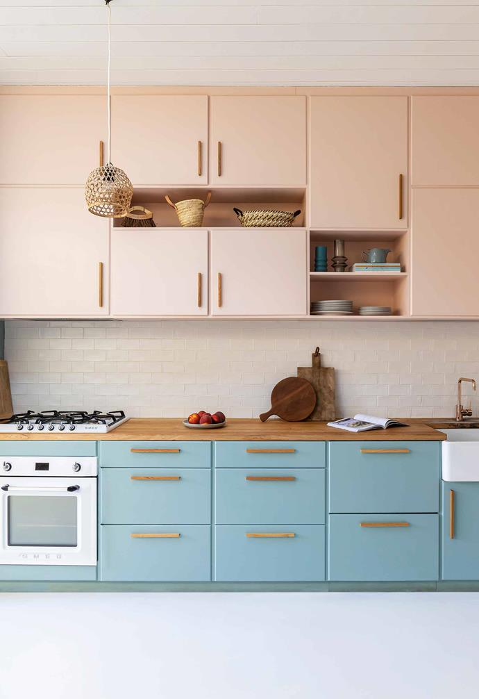 "**Kitchen** ""One of the main criteria for the kitchen was easy entertaining,"" says Jace, who designed the cabinetry. Aurélie chose the [Murobond](https://murobond.com.au/