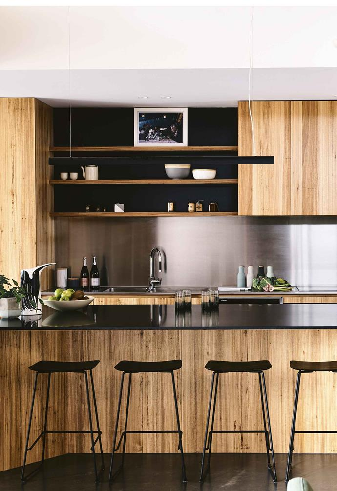 """This Melbourne couple created the perfect [contemporary family home](https://www.homestolove.com.au/timber-brick-house-melbourne-17933