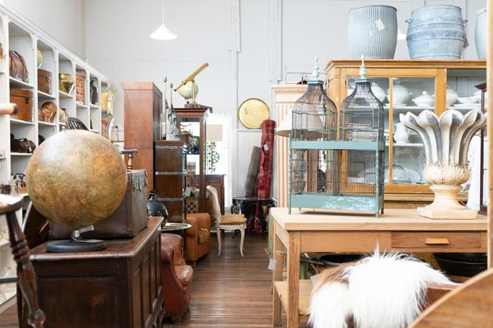 he Drill Hall Emporium is packed full of treasures for vintage and antiques hunters which are beautifully curated and displayed.