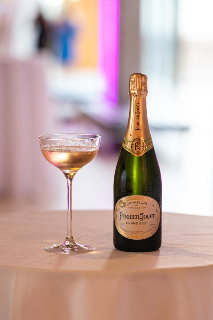 Perrier-Jouët Champagne was served in elegant, etched-glass coupes.