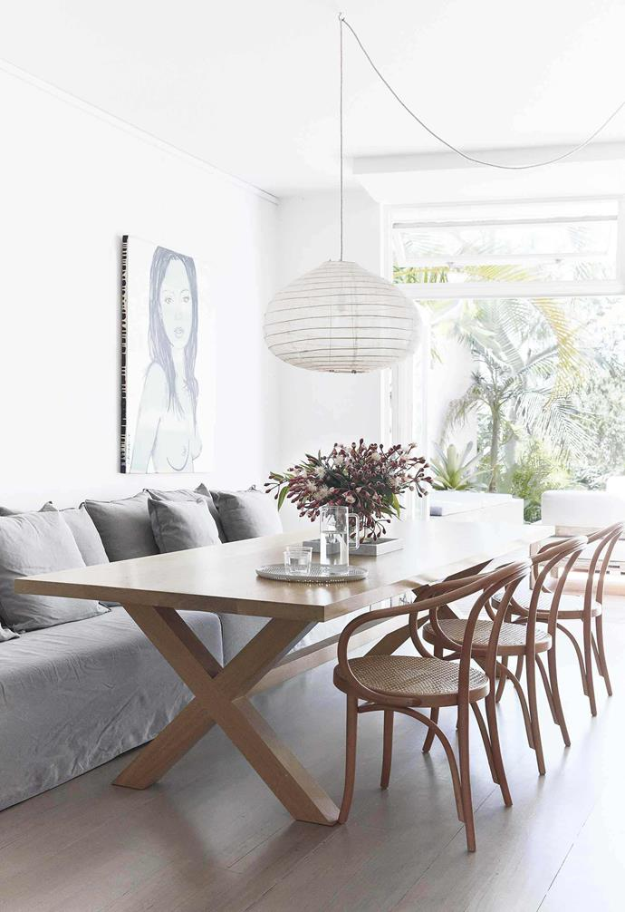 "In this renovated [Bondi duplex](https://www.homestolove.com.au/duplex-home-renovation-19533|target=""_blank"") the original timber flooring was limewashed to give it an almost-bleached effect that's perfect for the home's coastal aesthetic."