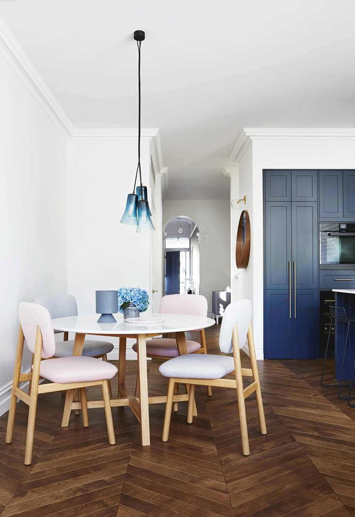 "Timber flooring laid in a chevron pattern offers a sophisticated and sleek look, perfect for homes that are aiming for a period aesthetic. In this [renovated Edwardian-semi](https://www.homestolove.com.au/modern-edwardian-semi-renovation-18524|target=""_blank""), chevron flooring lays a classic foundation for modern interiors."