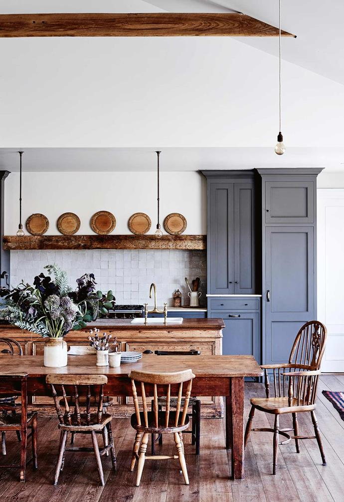 "This charming [family farmhouse in the Macedon Ranges](https://www.homestolove.com.au/share-house-a-family-farmhouse-in-the-macedon-ranges-14014|target=""_blank"") boasts classic nut-brown timber flooring that impart a earthy and [rustic aesthetic](https://www.homestolove.com.au/decorating-101-farmhouse-rustic-style-4345