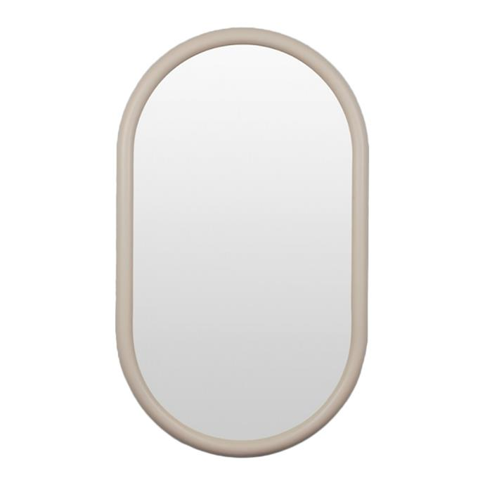 "Curves can even be embraced on your walls. The [Middle of Nowhere May Oval Mirror](https://www.designstuff.com.au/middle-of-nowhere-may-oval-mirror-nude-75x100-cm/|target=""_blank"") in Nude is a quirky way to introduce a sense of softness into a bathroom."
