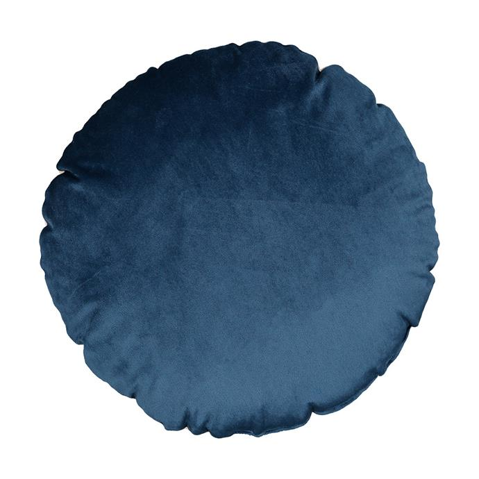 "The [Windsor Cushion](https://www.kmart.com.au/product/windsor-cushion/2848307|target=""_blank"") in velvet from Kmart is another subtle curve that will update your living space and won't go out of style."