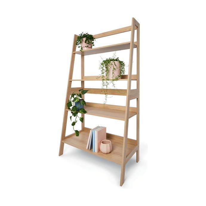 "Oak look bookshelf, $49, [Kmart](https://www.kmart.com.au/product/oak-look-bookshelf/2587326|target=""_blank""|rel=""nofollow"")"