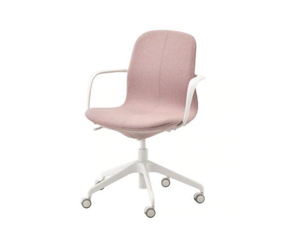 """Lȧngfäll office chair with armrests, $229, [Ikea](https://www.ikea.com/au/en/p/langfjaell-office-chair-with-armrests-gunnared-light-brown-pink-white-s89252787/