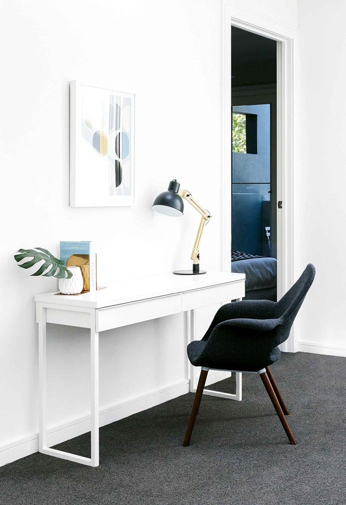 A clean space promotes a clean mind so ensure your desk space is clutter-free.