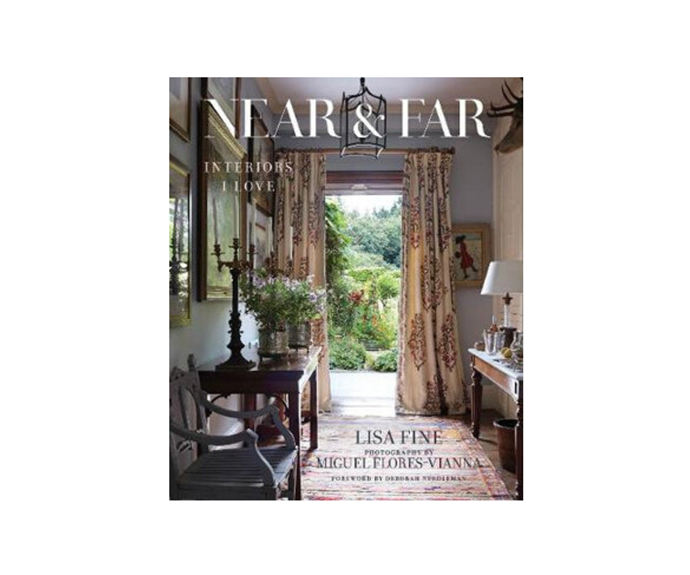 "[**Near & Far**](https://www.booktopia.com.au/near-far-lisa-fine/book/9780865653658.html|target=""_blank""). Near and Far is a collation of interiors that have inspired Lisa Fine. From India, Paris, Dallas and New York, let it take you all over the world from the snug corner of your sofa. *Lisa Fine, Deborah Needleman, Miguel Flores-Vianna, $100*"
