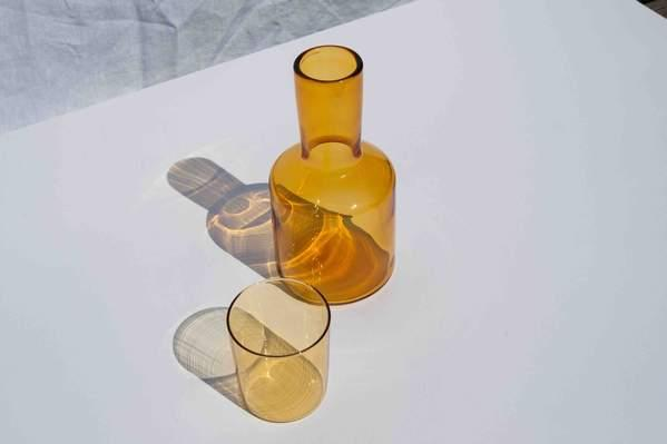 "J'ai Soif Carafe & Glass, $79, from [Maison Balzac](https://www.maisonbalzac.com/products/jai-soif-miel-carafe-glass-79|target=""_blank"")"