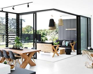monochrome modernist house