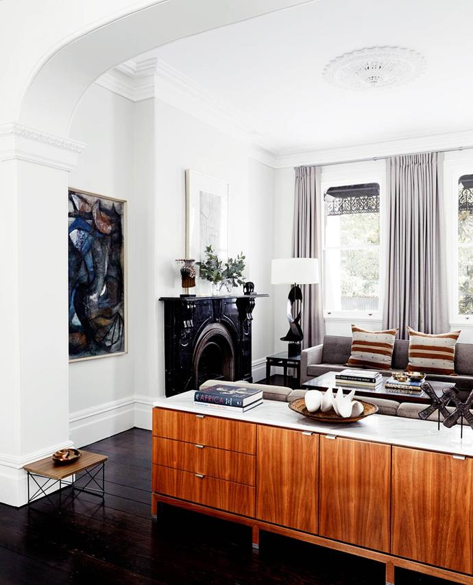 "While respecting its heritage and period features owner Peter Stewart injected a subtly modern aesthetic into his [Sydney terrace](https://www.homestolove.com.au/luxury-home-tour-historical-sydney-terrace-3559|target=""_blank""). Mid-century furnishings collected over many years found a ready home here."