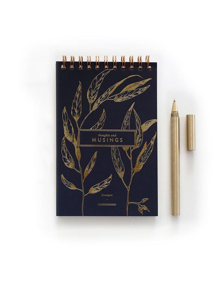 "Musing Ringbound Notebook, $14.95, [Bespoke Letterpress](https://bespokepress.com.au/products/musing-ringbound-nookbook|target=""_blank""