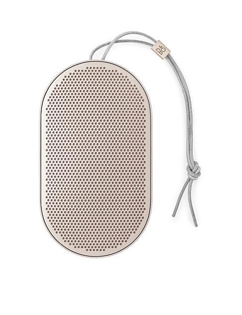 "Bang & Olufsen Beoplay P2 Portable Wireless Bluetooth Speaker in Sandstone, $250.00, [David Jones](https://www.davidjones.com/electrical/audio-and-speakers/wireless-speakers/21393562/Beoplay-P2-Portable-Wireless-Bluetooth-Speaker---Sand-Stone.html|target=""_blank""|rel=""nofollow"")"