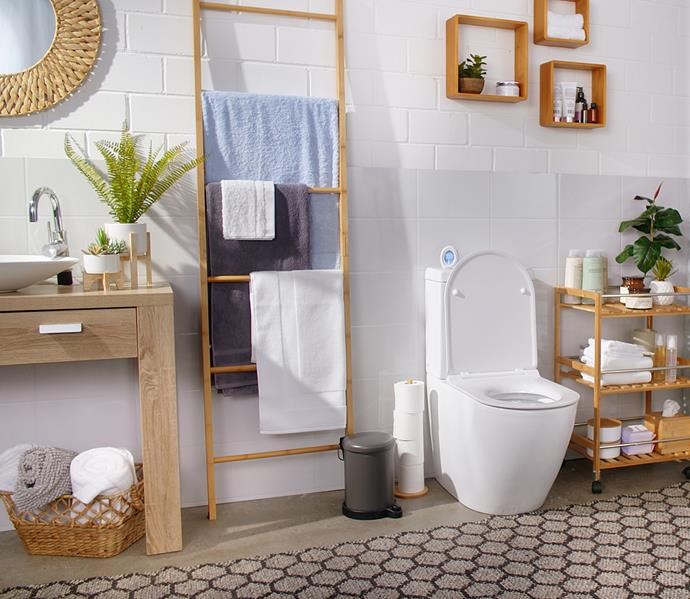 Ambi Pur Bathroom Fresh 2-in-1 works to neutralise bathroom odours for up to 45 days at the click of a button. *Image: supplied*
