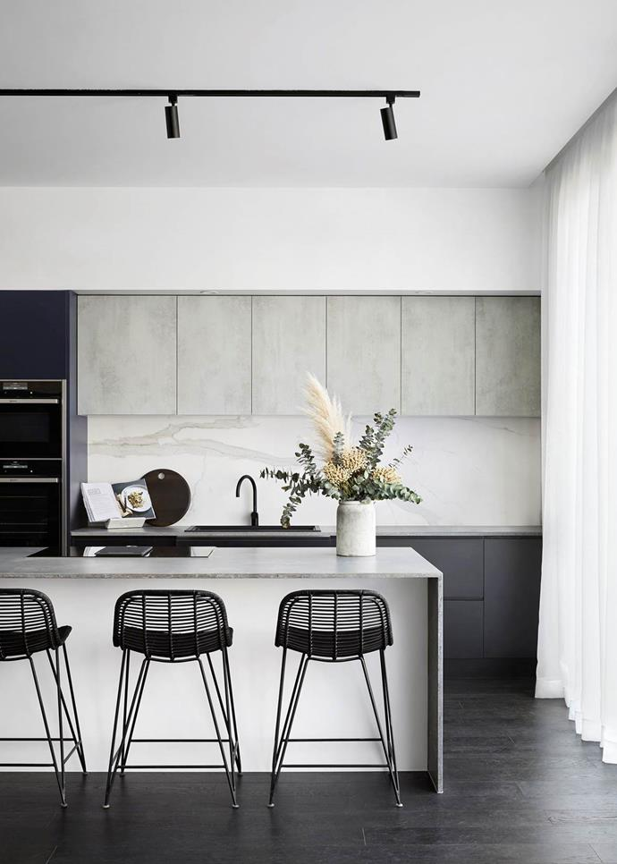 """This [contemporary space](https://www.homestolove.com.au/the-block-2017-kitchen-reveals-5744