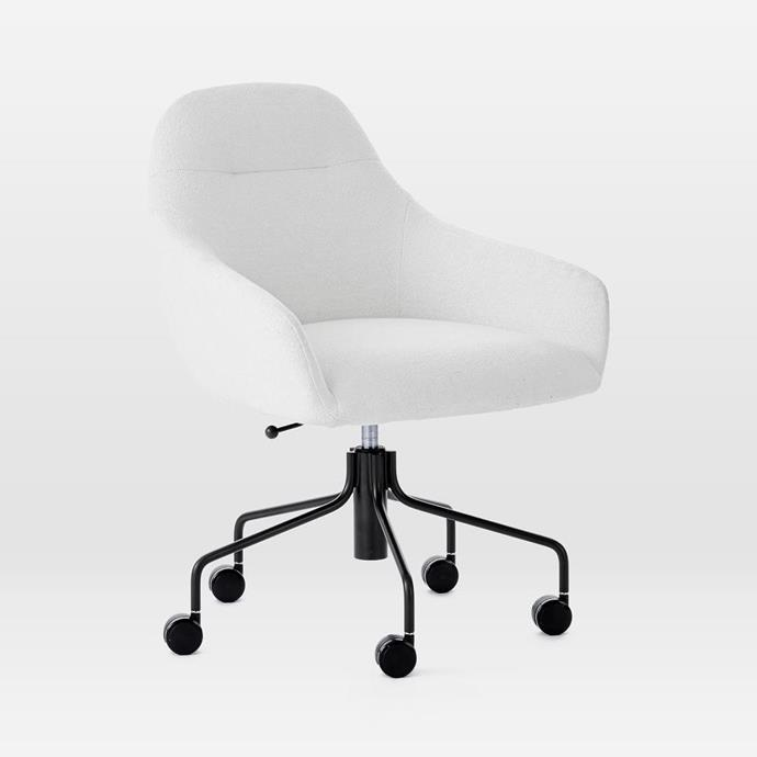 "Valentina Office Chair, $599, [West Elm](https://www.westelm.com.au/valentina-office-chair-h4369|target=""_blank""