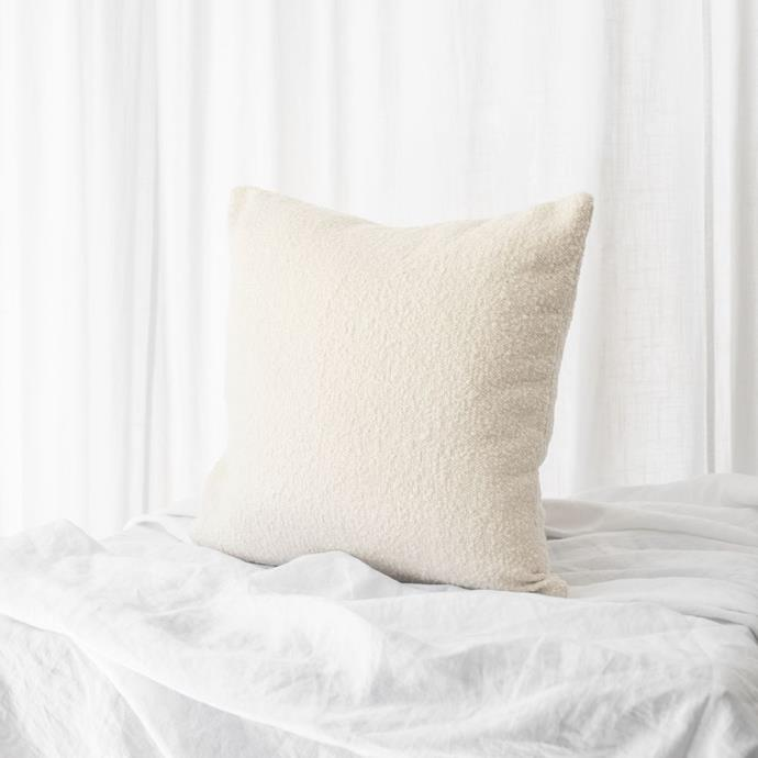 "Cushion Boucle 50x50, Ivory, $149.00, [McMullin & co.](https://www.mcmullinandco.com/cushion-boucle-50x50-ivory|target=""_blank"")"