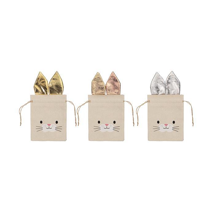 "Bunny Fabric Treat Bag - Assorted, $1.00, [Kmart](https://www.kmart.com.au/product/bunny-fabric-treat-bag---assorted/2483814|target=""_blank""|rel=""nofollow"")"