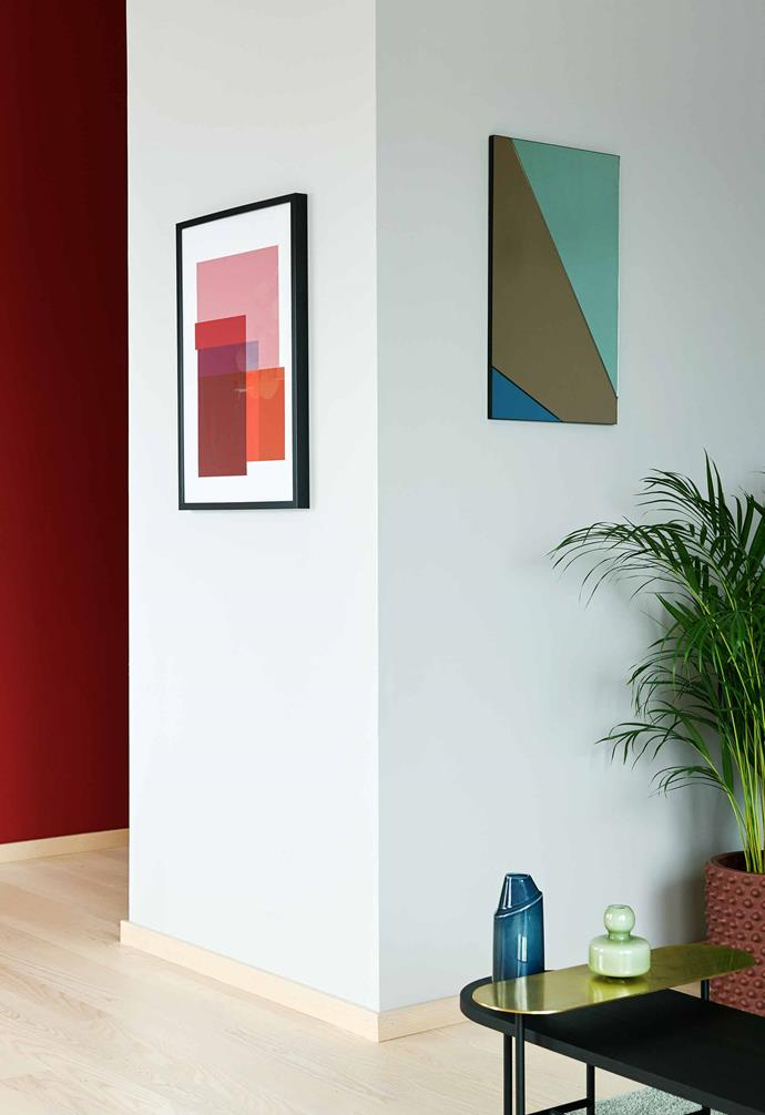 **Hallway** The block-colour prints were designed by Sara in collaboration with Straight Design.