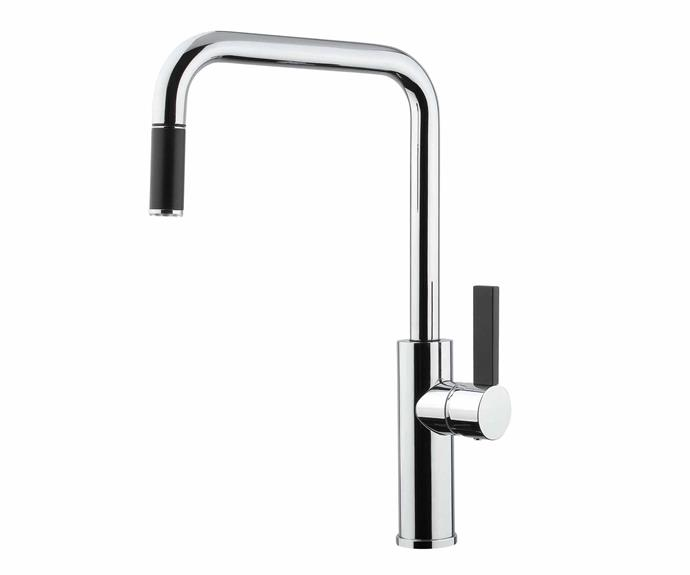 """Armando Vicario Luz pull-out mixer in Chrome (4-star WELS rating), from $592, [Abey Australia](https://www.abey.com.au/
