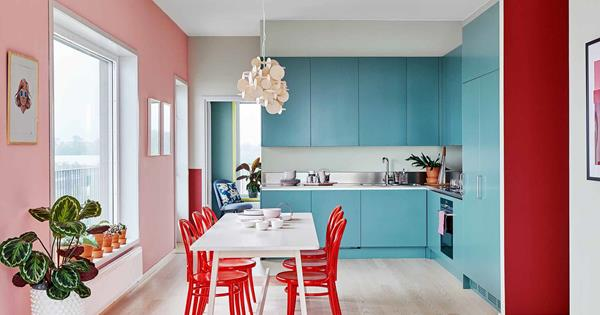 A colourful apartment revamp in Sweden that's full of joy